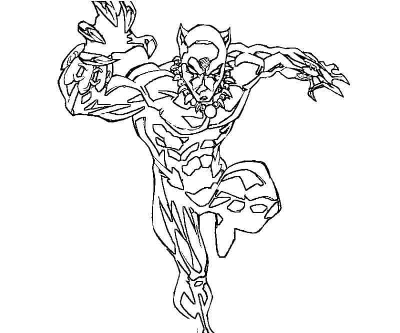 Desenhos de Ataque De Pantera Negra para colorir