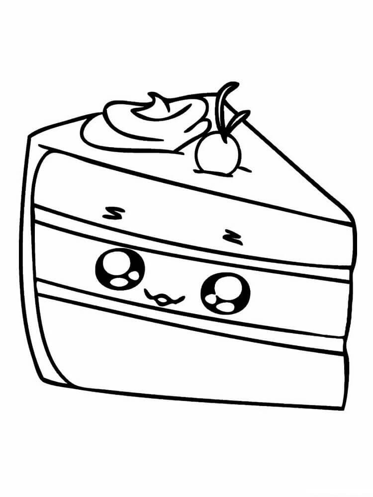 Desenhos de Bolo Fofo para colorir