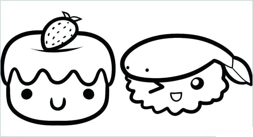 Desenhos de Bonitos Bolas De Arroz para colorir