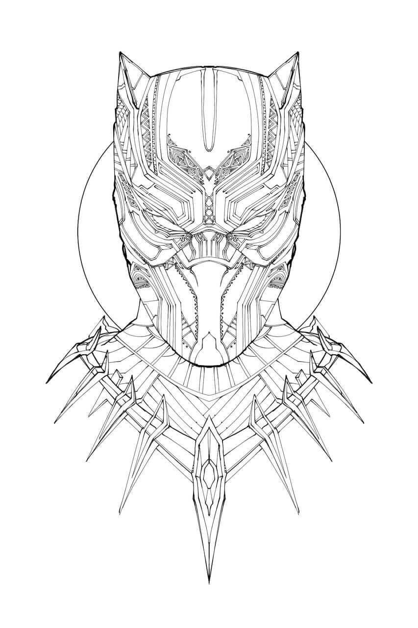 Desenhos de Cabeça De Pantera Negra para colorir