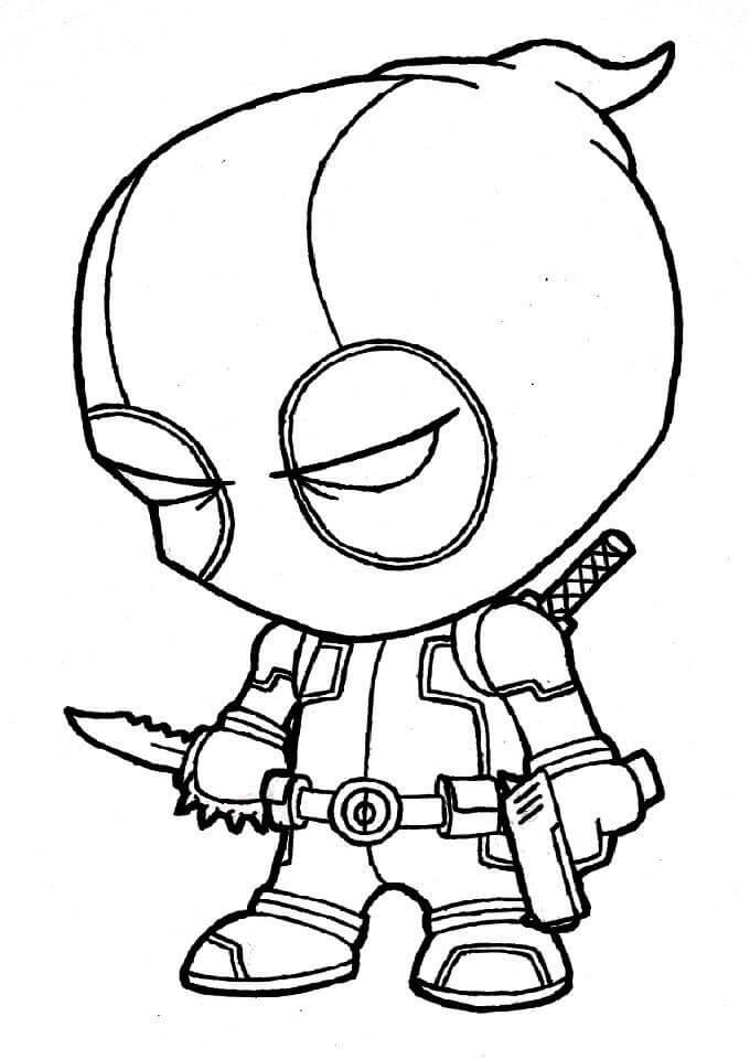 Desenhos de Chibi Piscina Morta para colorir