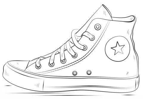 Desenhos de Converse Alto para colorir