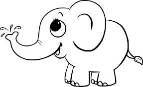 Desenhos de Elefante Bebê Fofo para colorir