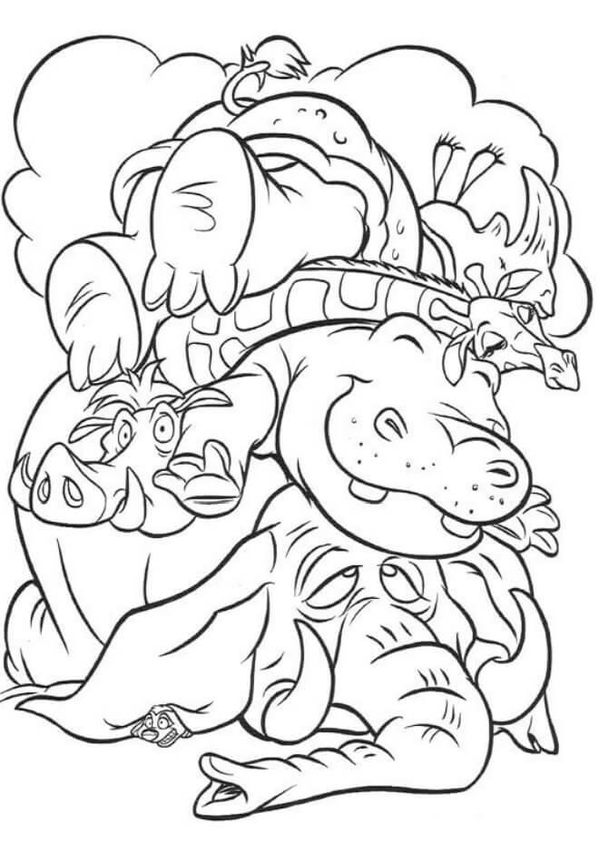 Desenhos de Elefante Pobre para colorir