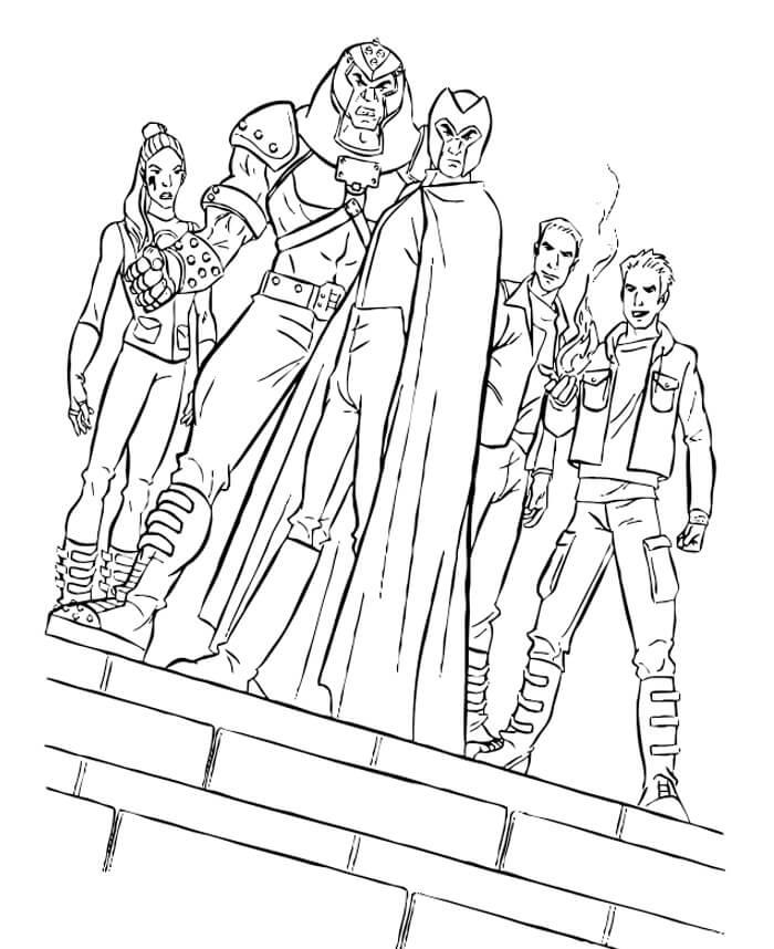Desenhos de Equipe Escuro X-Men para colorir