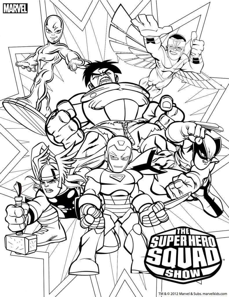 Desenhos de O Super Heroi Esquadrão Mostrar