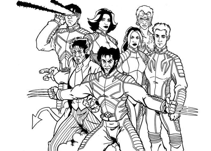 Desenhos de Evolução Do X-men para colorir