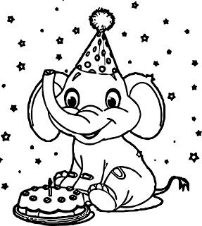 Desenhos de Feliz Dia Do Elefante para colorir