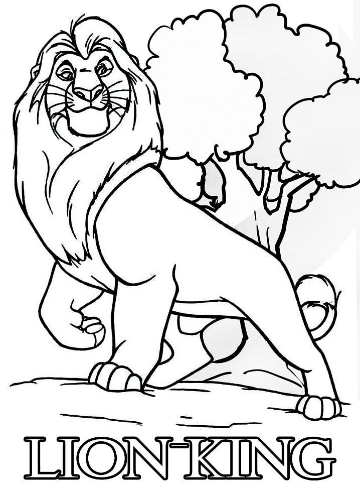 Desenhos de HD O Rei Leão para colorir