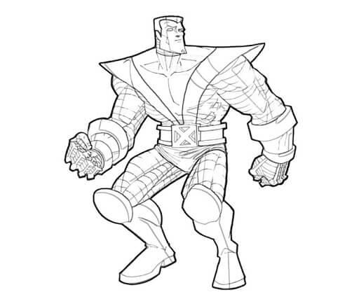 Desenhos de Homem Metal De X-Men para colorir