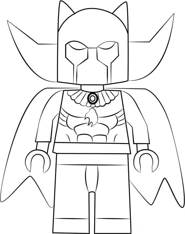 Desenhos de Lego Pantera Negra para colorir