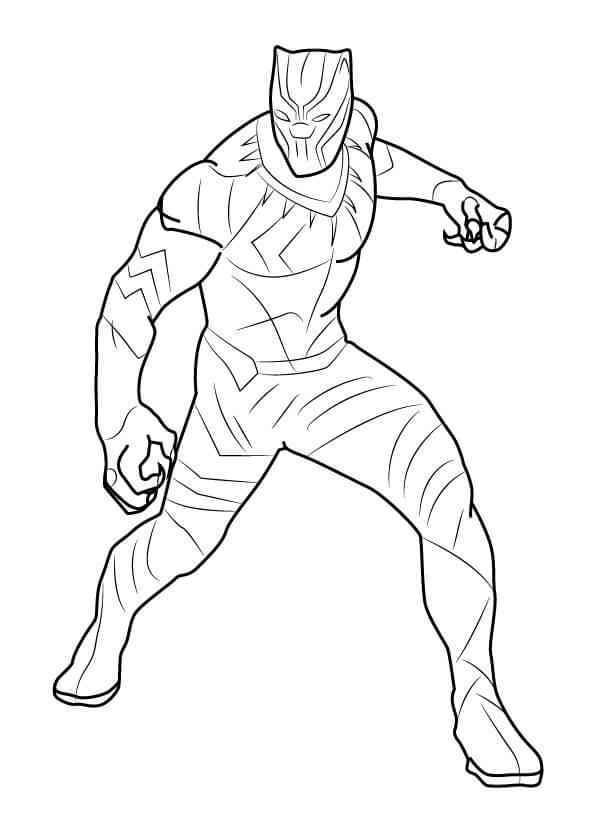 Desenhos de Marvel Pantera Negra para colorir