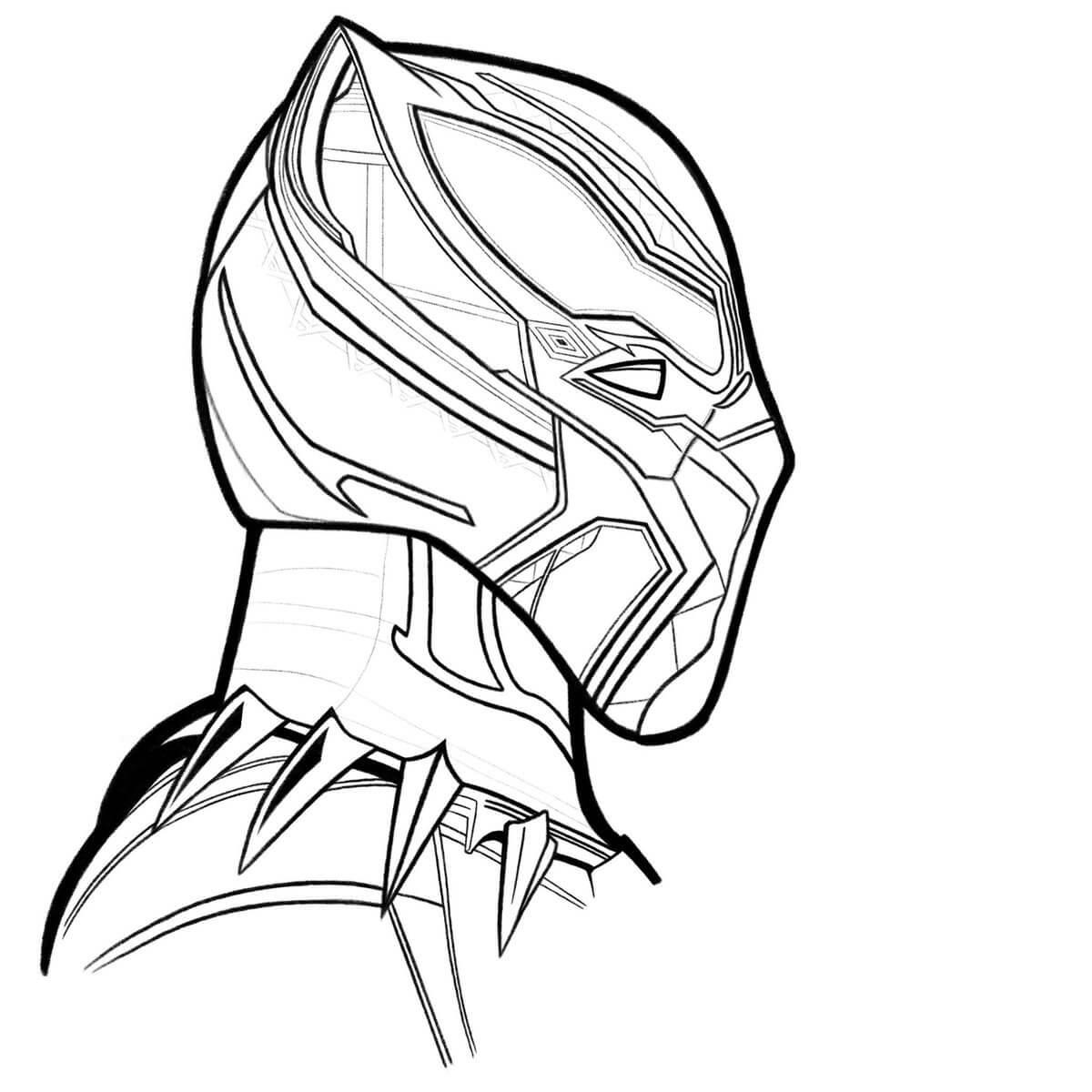 Desenhos de Mascarar de Pantera Negra incrível para colorir