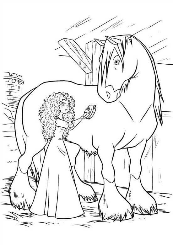 Desenhos de Merida Bath For Angus para colorir