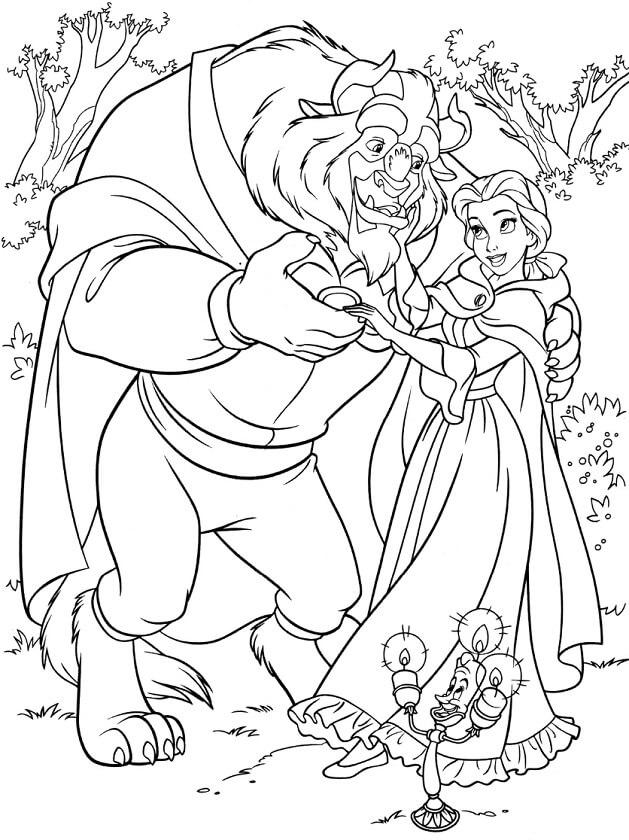 Desenhos de Monster E Bella Dance para colorir