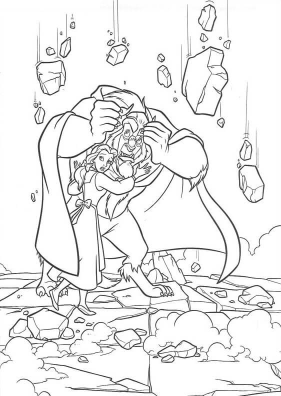 Desenhos de Monster Protection Belle para colorir