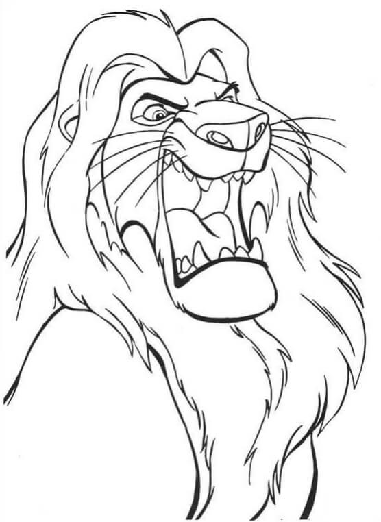 Desenhos de Mufasa Irritado para colorir