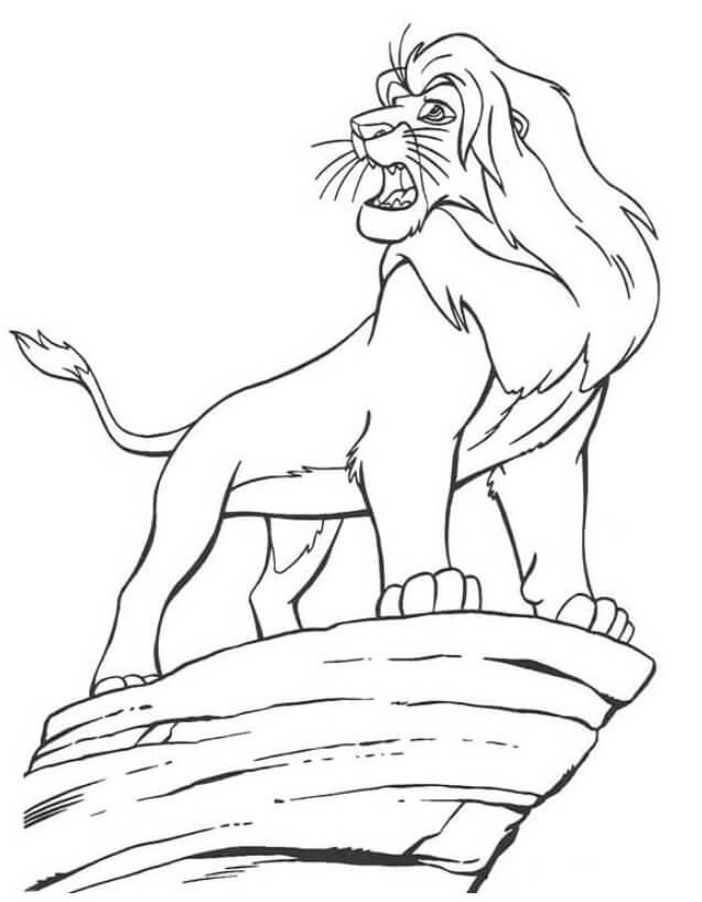 Desenhos de O Rei Leão Mufasa para colorir