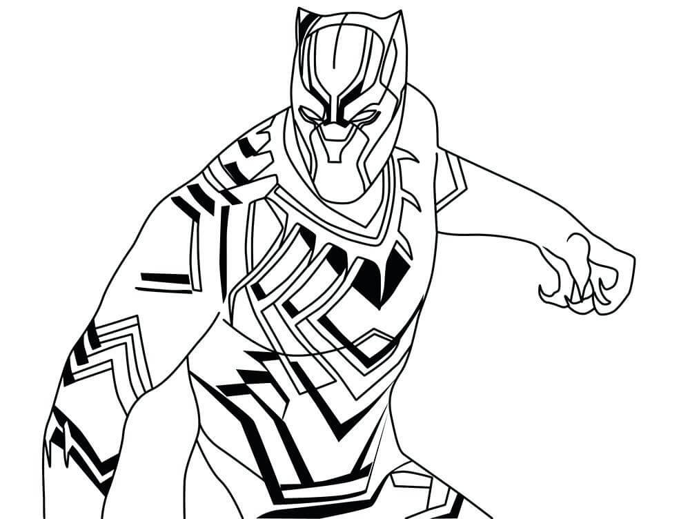 Desenhos de Pantera Negra Forte para colorir