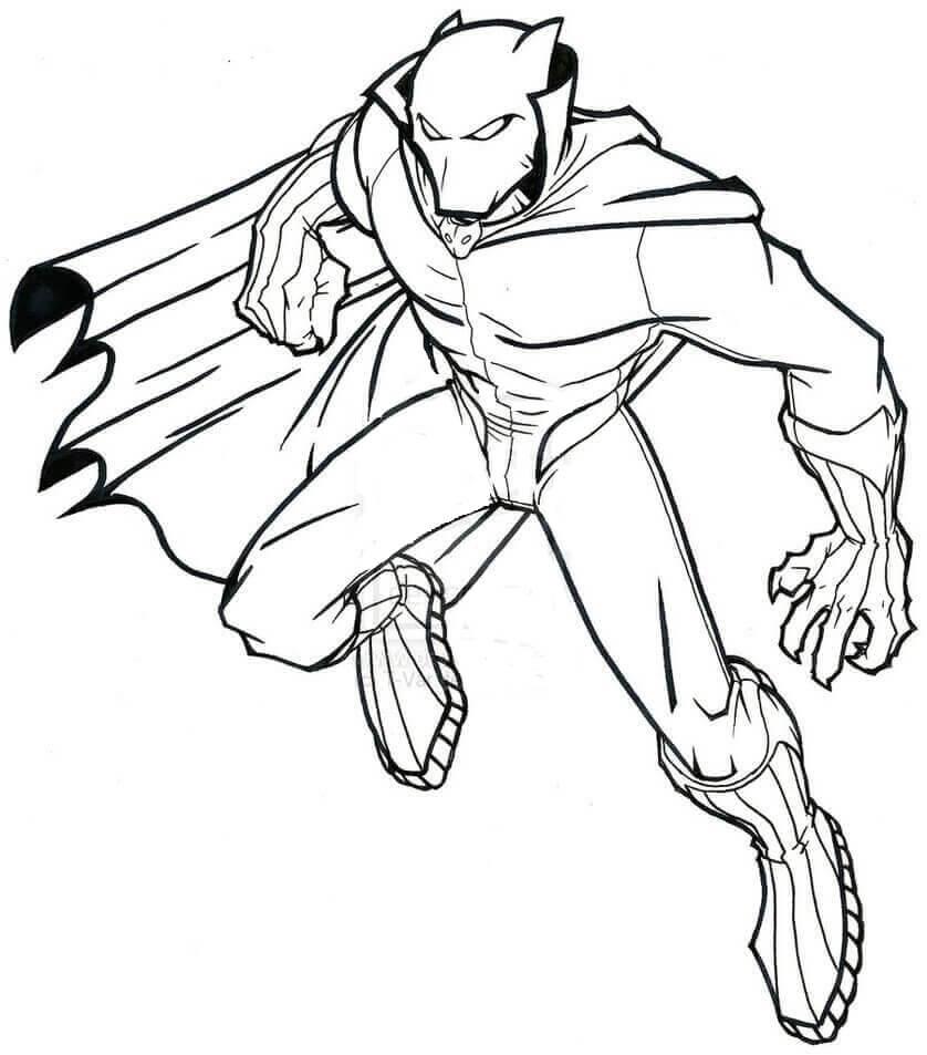 Desenhos de Pantera Negra Fria para colorir