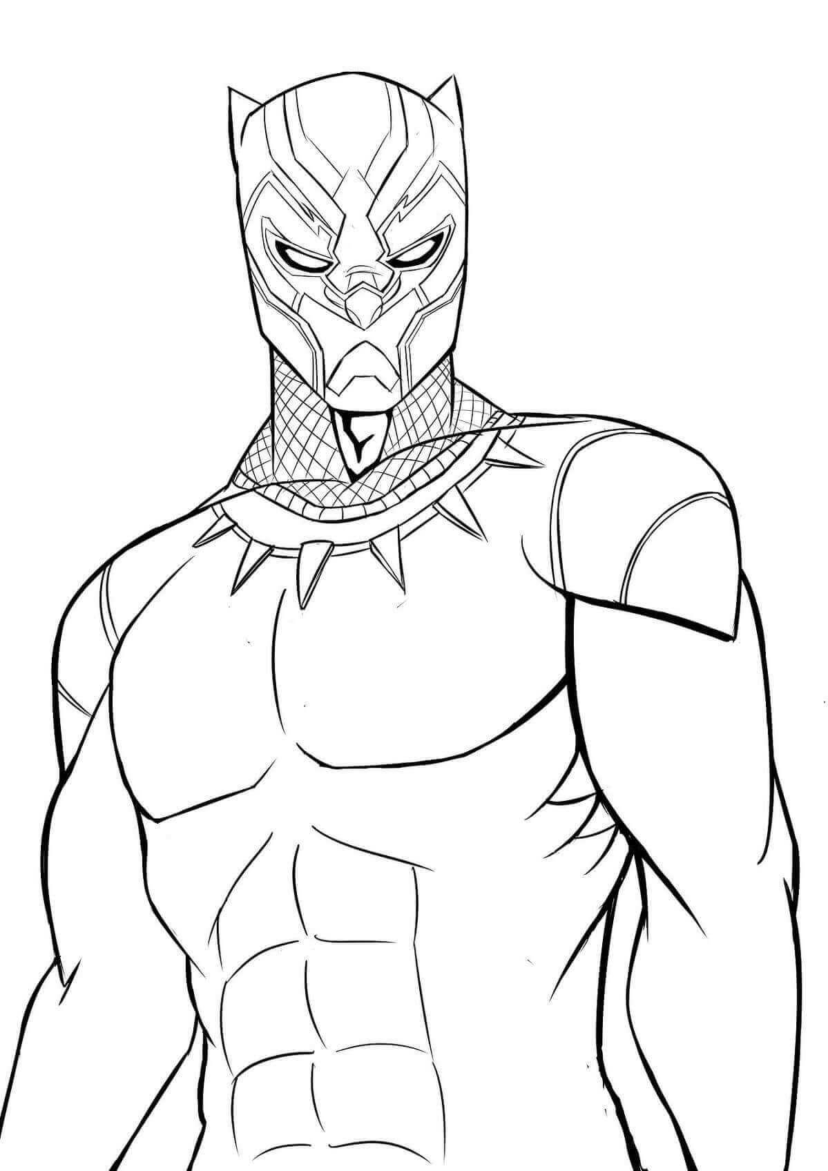 Desenhos de Pantera Negra para Colorir