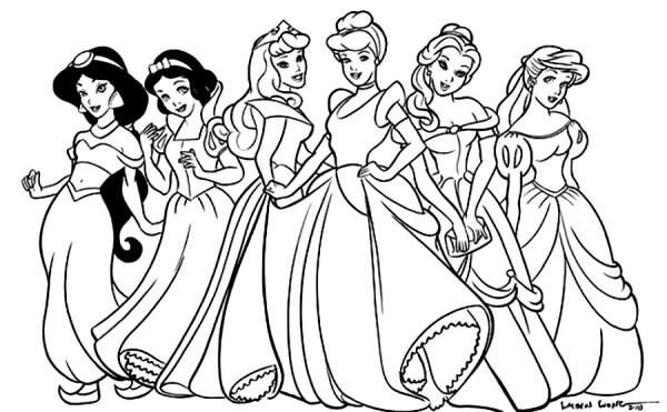 Desenhos de Princesas Disney para colorir