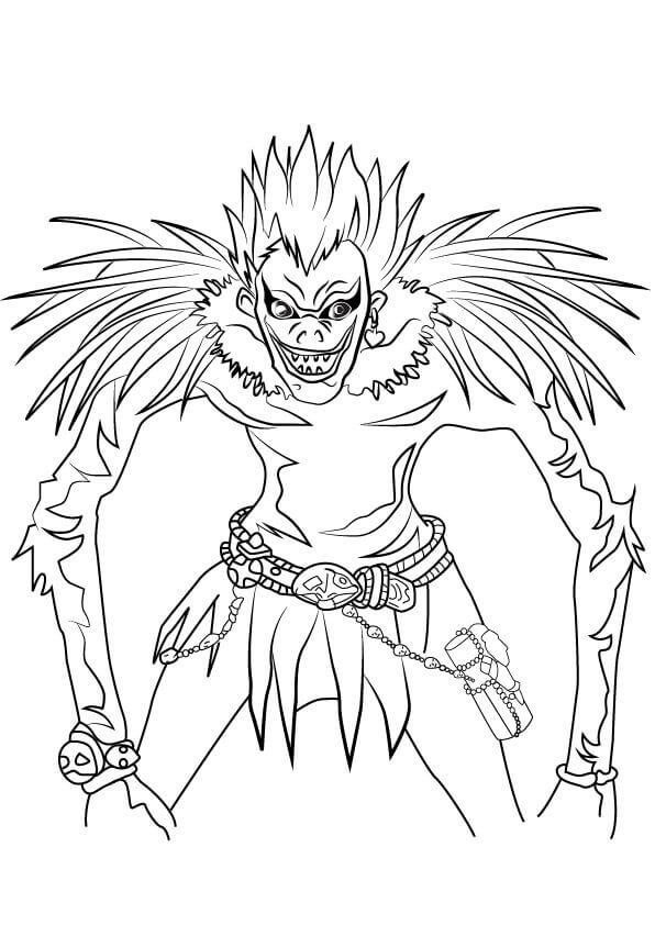 Desenhos de Ryuk, O Deus Da Morte para colorir
