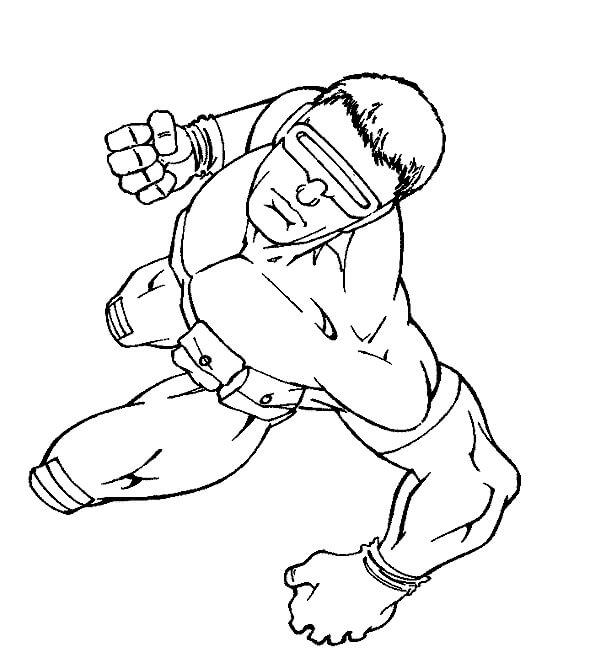 Desenhos de Soco de X-Men para colorir