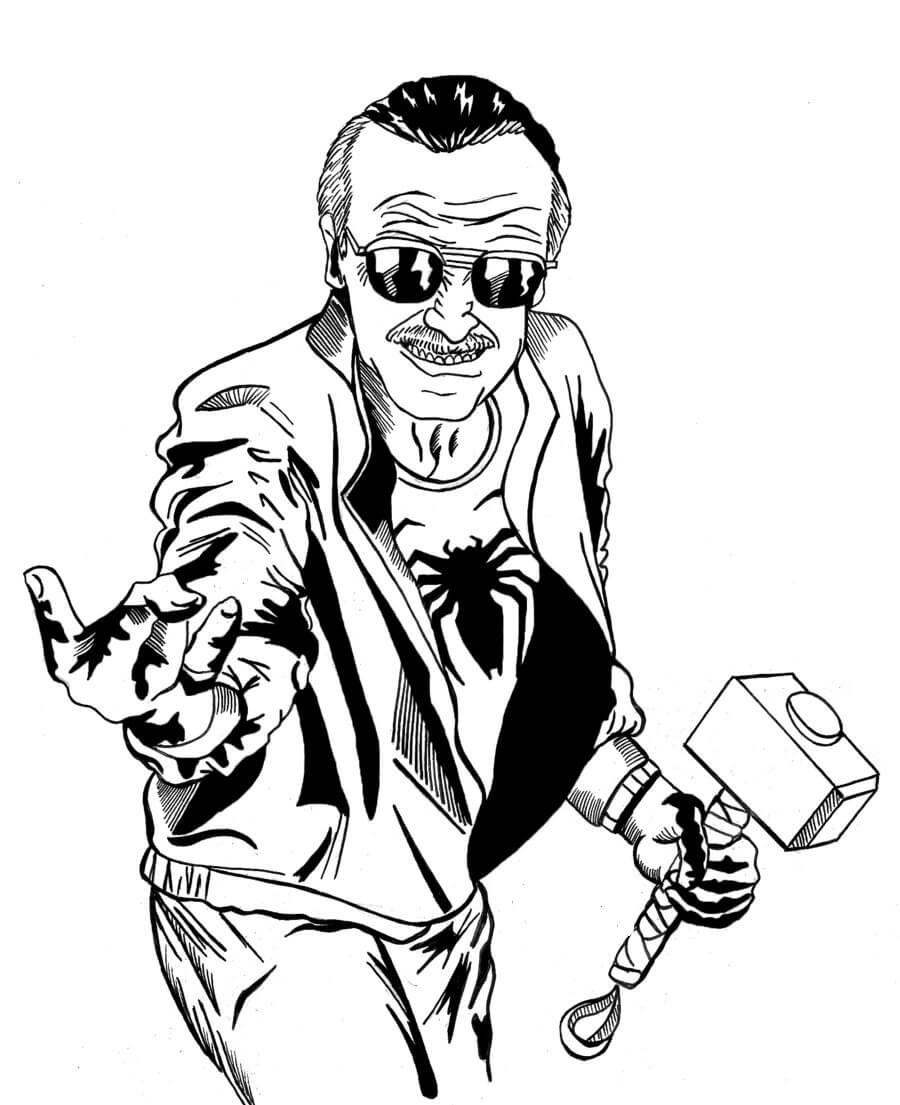 Desenhos de Stan lee Incrível para colorir