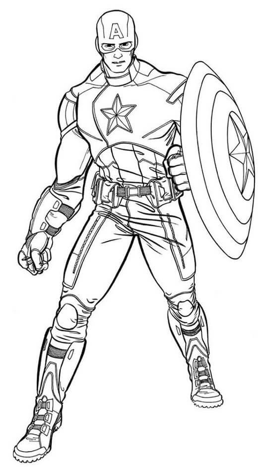 Desenhos de Capitão América