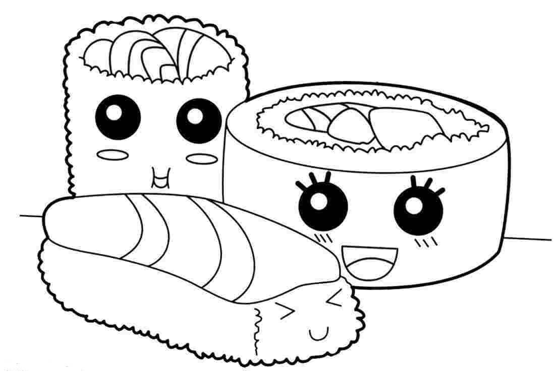 Desenhos de Sushi Bonitinho para colorir