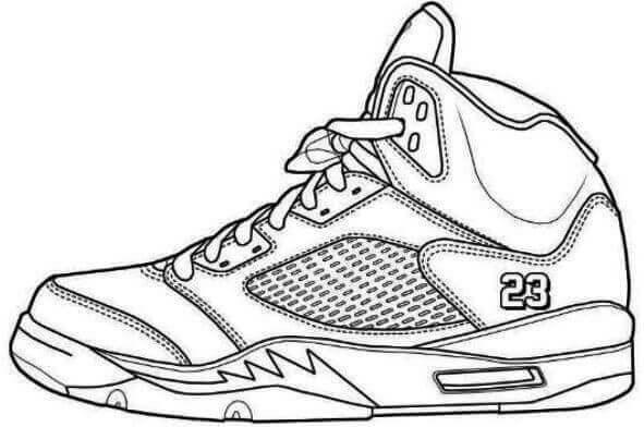 Desenhos de Tênis Air Jordan para colorir