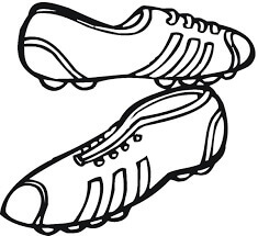 Desenhos de Tênis De Futebol para colorir