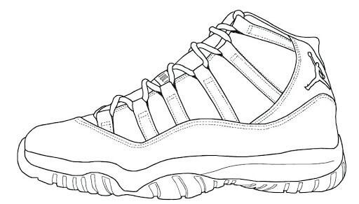 Desenhos de Tênis Jordan Fresco para colorir