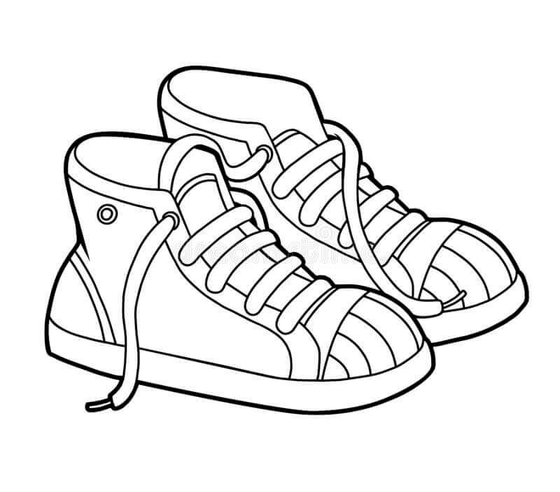 Desenhos de Tênis para colorir