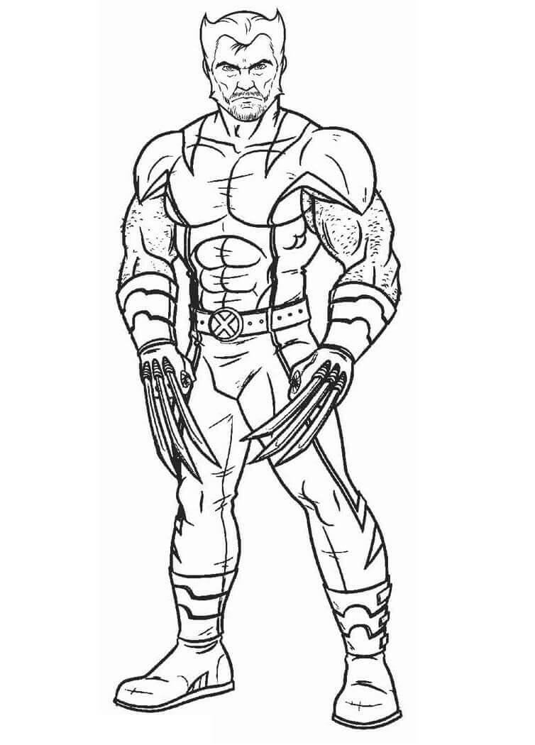 Desenhos de Wolverine X-Men para colorir