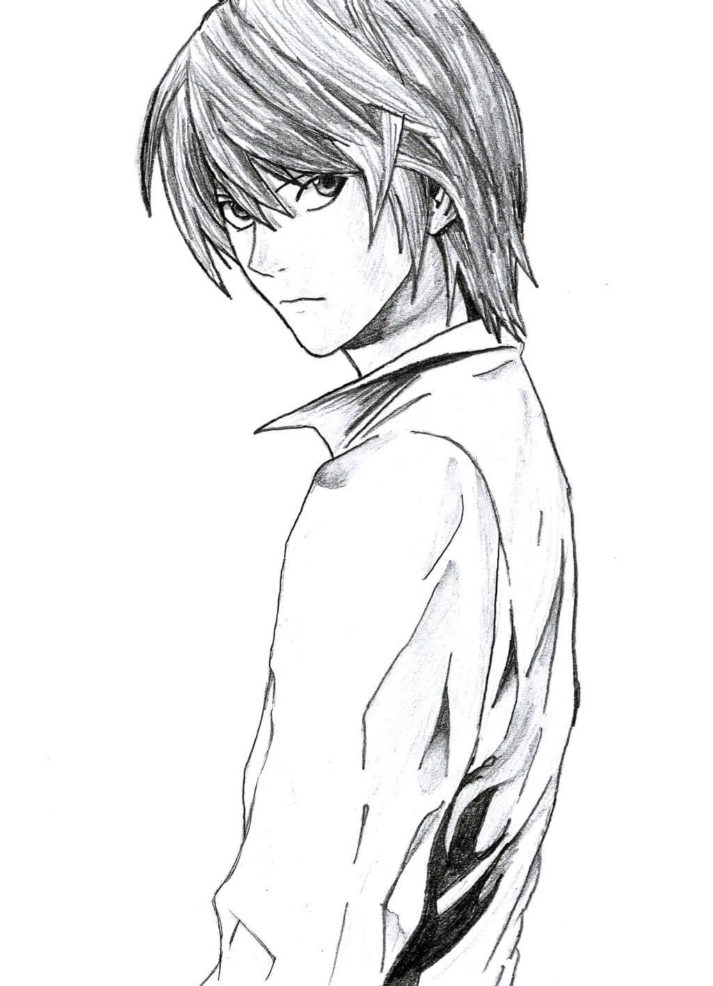 Desenhos de Yagami Kira Leve para colorir
