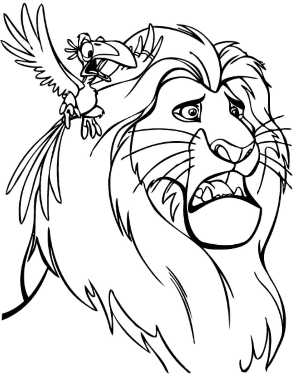 Desenhos de Zazu E Mufasa para colorir