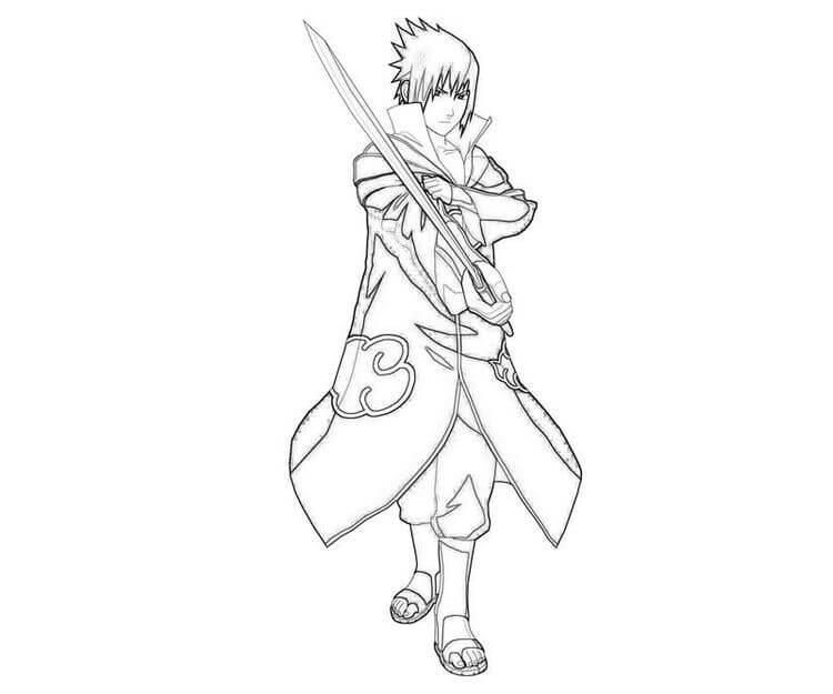 Desenhos de Akatsuki Sasuke para colorir