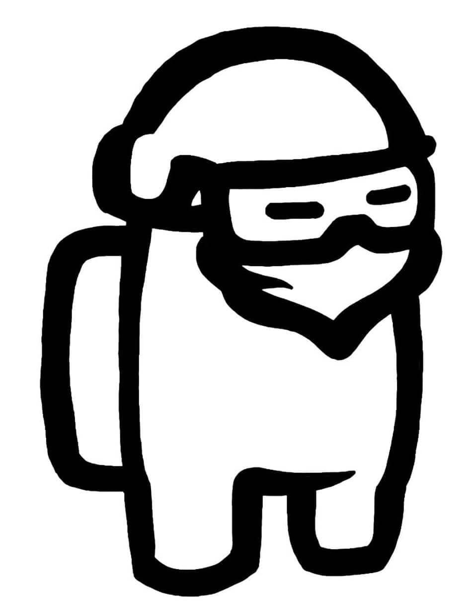 Desenhos de Among Us Ninja para colorir
