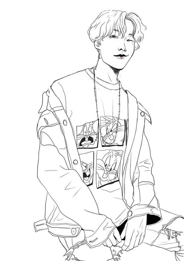 Desenhos de BTS J-Hope para colorir