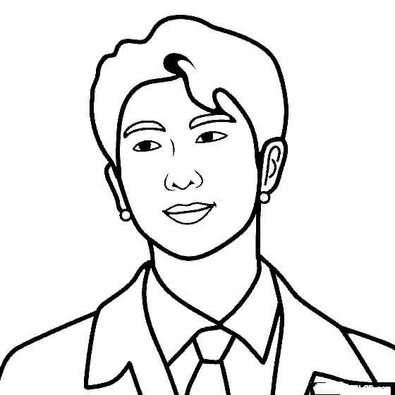 Desenhos de BTS Kim Nam Joon para colorir