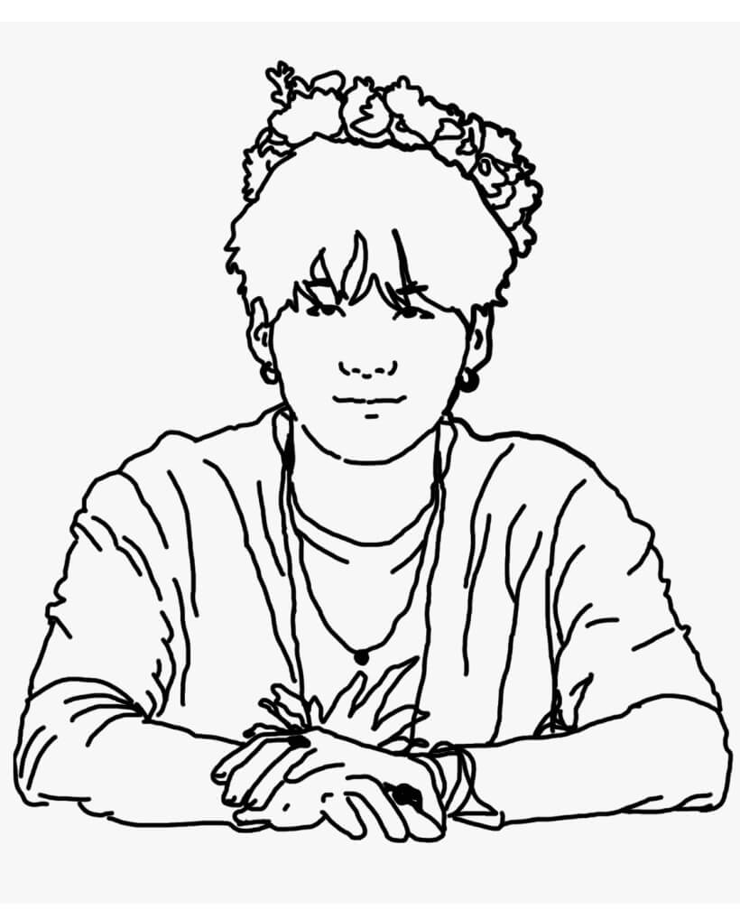 Desenhos de BTS SUGA para colorir