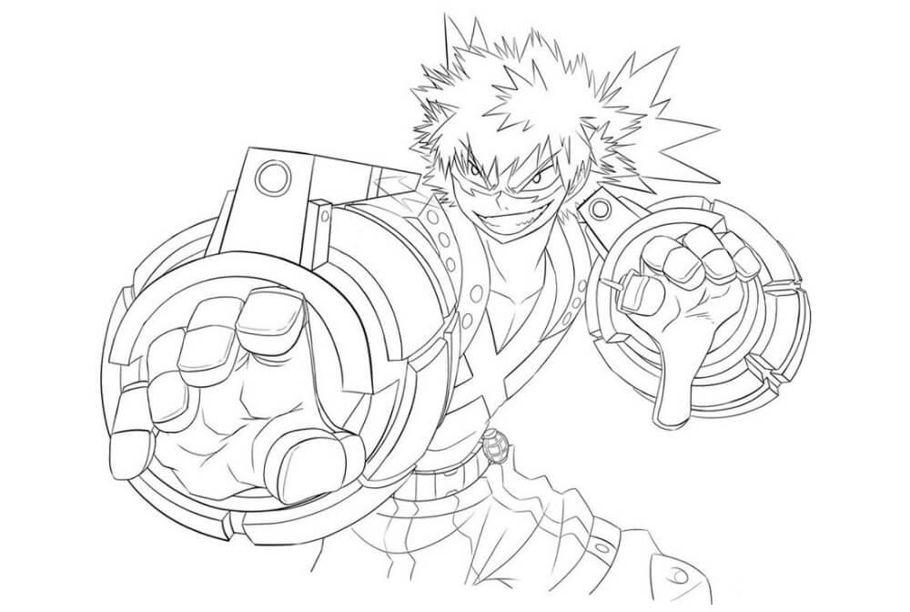 Desenhos de Bakugo Katsuki para colorir
