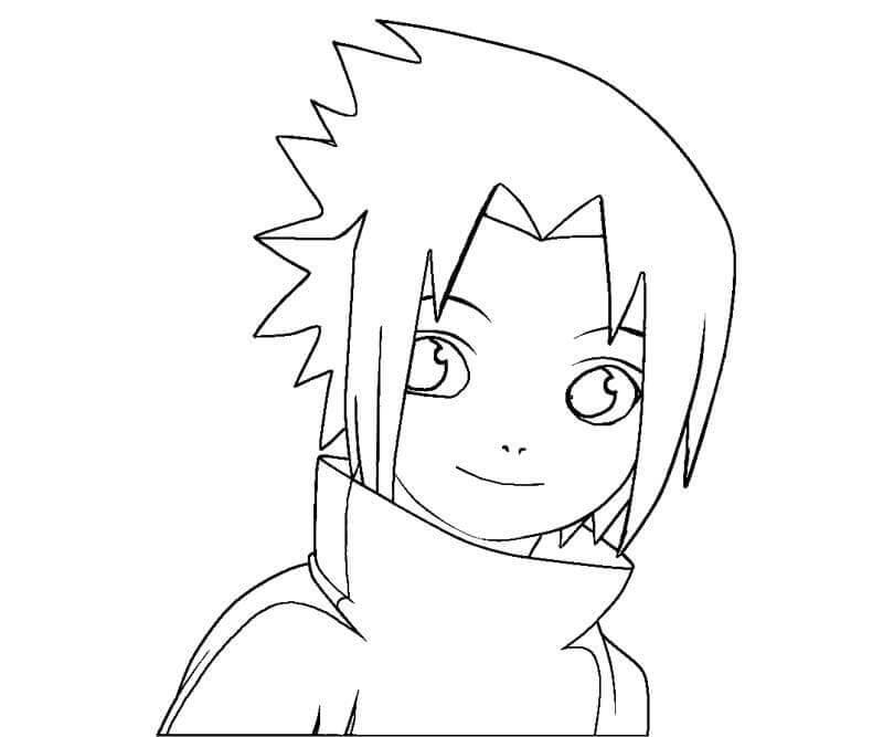 Desenhos de Sasuke bebê para colorir