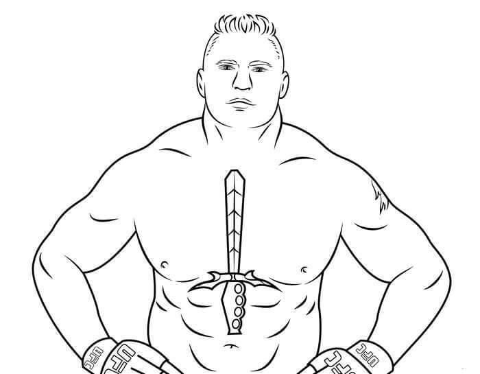 Desenhos de Brock Lesnar para colorir