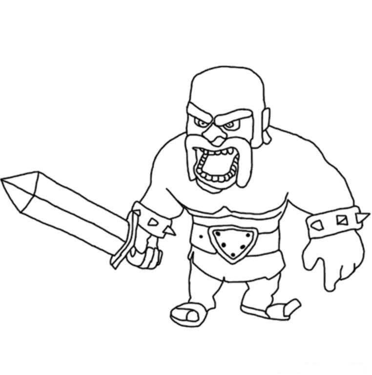 Desenhos de Ejército Bárbaro para colorir