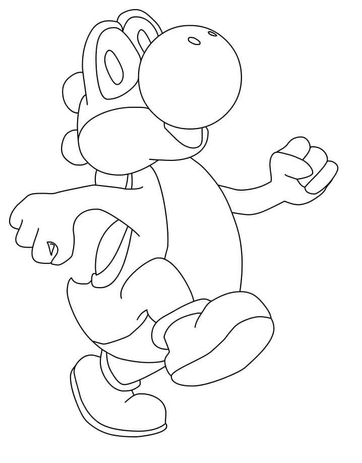 Desenhos de Feliz Yoshi para colorir