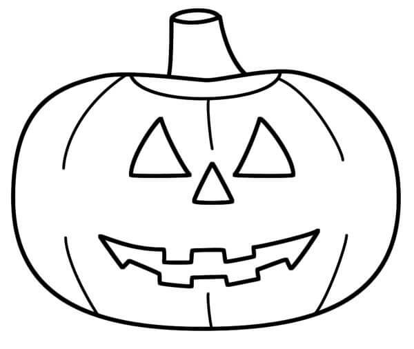 Desenhos de Jack o' Lantern Kawaii para colorir