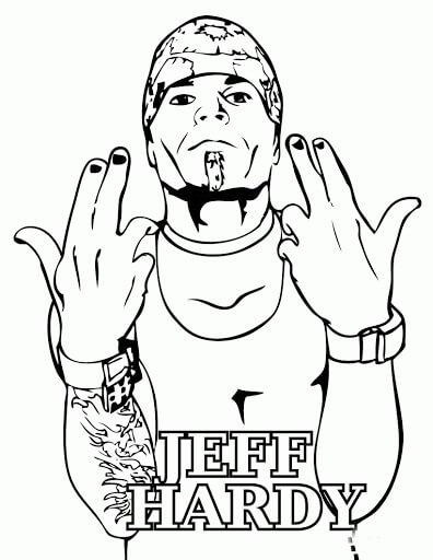 Desenhos de Jeff Hardy para colorir